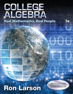 Larson Precalculus – College Algebra Real Math Real People